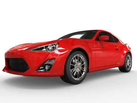 red sports car: Generic red sports car - closeup shot Stock Photo
