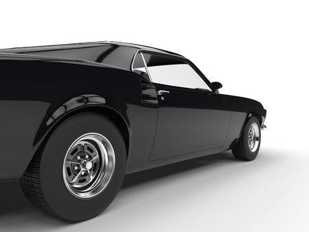 restored: Classic black muscle car