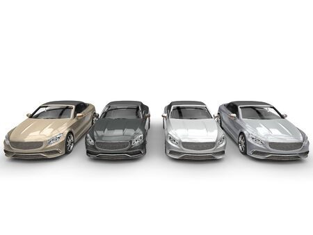 is expensive: Modern expensive cabriolet cars - metallic colors