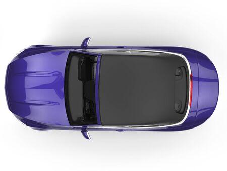 purple car: Purple car - top view