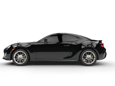 car side view: Generic black sports car - side view