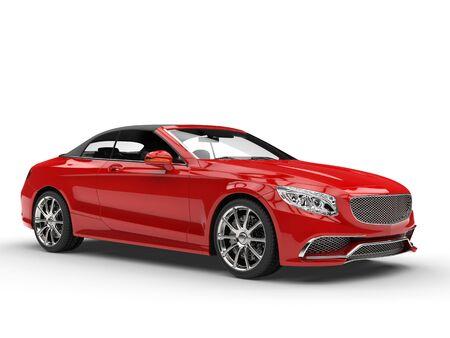 beauty shot: Modern red business car - beauty shot