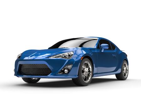 Generic blue sports car  - studio shot
