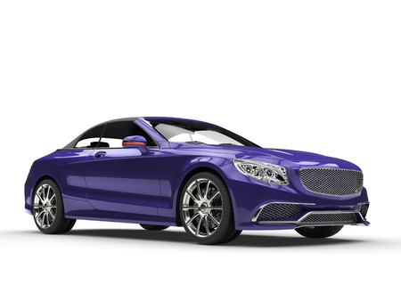 purple car: Fresh purple business car Stock Photo