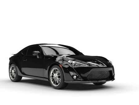 studio shot: Generic black sports car - studio shot