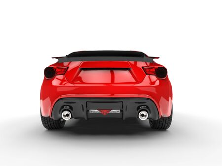 red sports car: Generic red sports car - back view