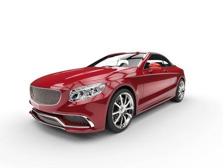 Red modern cabriolet car - studio shot