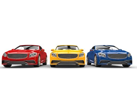 primary colors: Modern cars - primary colors