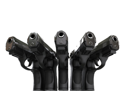 pistols: Set of five semi automatic pistols