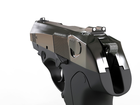 9mm ammo: Semi - automatic pistol - FPS right hand view