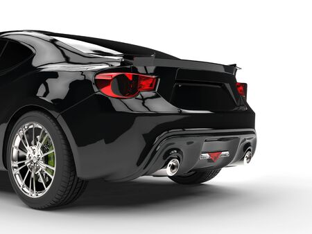 taillight: Generic black sports car - taillight closeup
