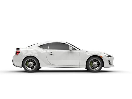 car side: Generic white sports car - side view