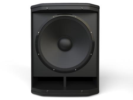 woofer: Modern woofer loudspeaker - front view closeup