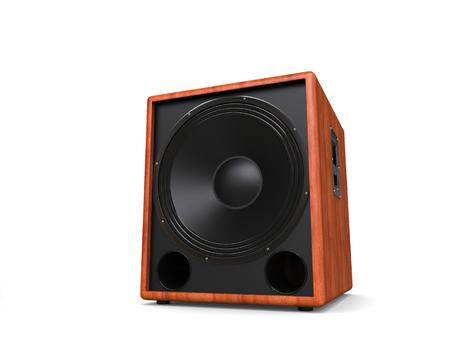 hifi: Awesome hifi subwoofer speaker - wood finish