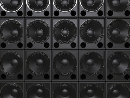 subwoofer: Subwoofer speakers background Stock Photo