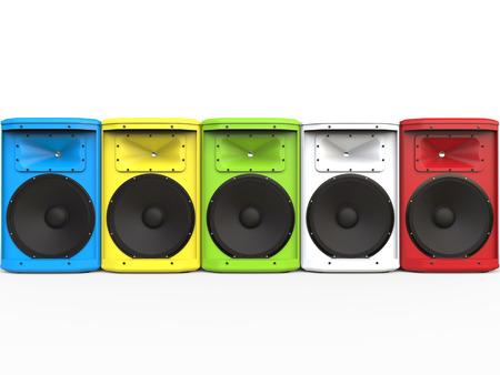 Colorful mid range loudspeakers