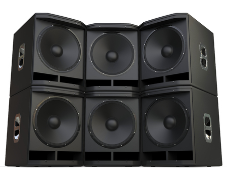 subwoofer: Subwoofer speakers wall stacked