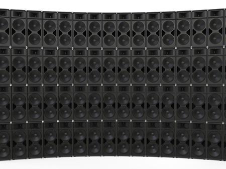 loudspeaker: Big loudspeaker curved wall