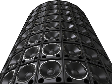 sub woofer: Tower of hifi bass speakers
