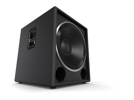 hifi: Black subwoofer hifi speaker