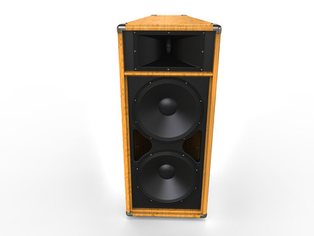 acoustic systems: Big hifi speaker - wood finish