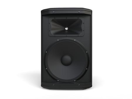 loudspeaker: Small mid range loudspeaker Stock Photo