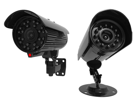 night vision: Security cameras with night vision Stock Photo