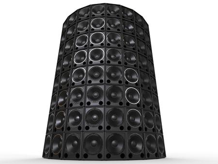 hifi: Tower of hifi woofer speakers