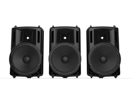 hi fi: Three modern hi fi glossy speakers