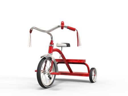 studio shot: Red tricycle - studio shot