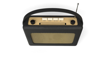 transistor: Vieja radio de transistores negro - vista desde arriba