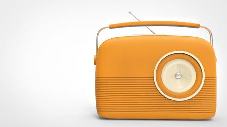 Pretty orange retro vintage radio Stock Photo