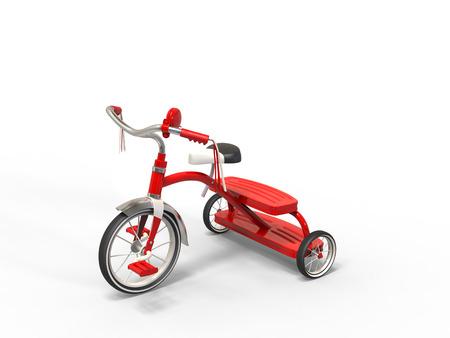 studio lighting: Red tricycle - studio lighting shot