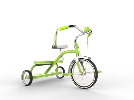 studio shot: Green tricycle - studio shot