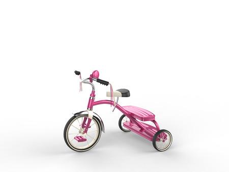 studio shot: Pretty pink tricycle - studio shot