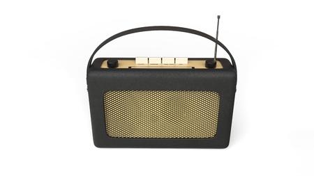 transistor: Old black transistor radio