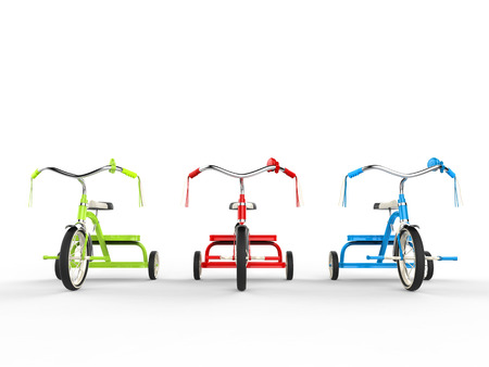 rgb: RGB tricycles - front view