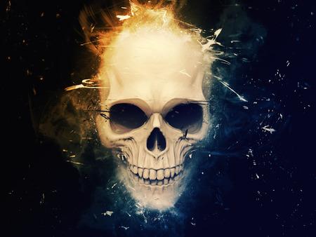 Stylish skull ilustration Stock Photo