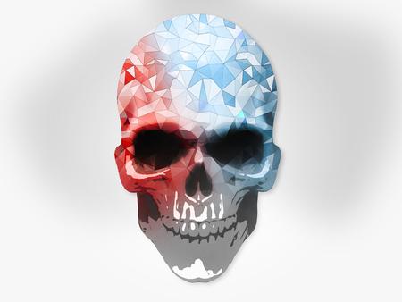 cel: Polygon skull - cel shading illustration Stock Photo