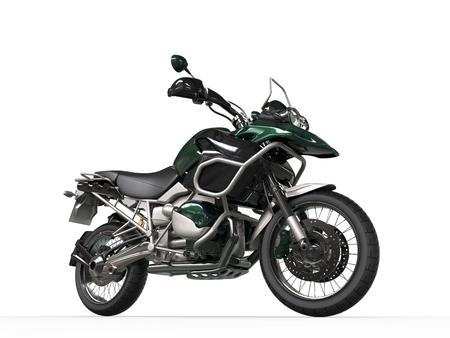dirtbike: Mint green modern road bike - front wheel closeup