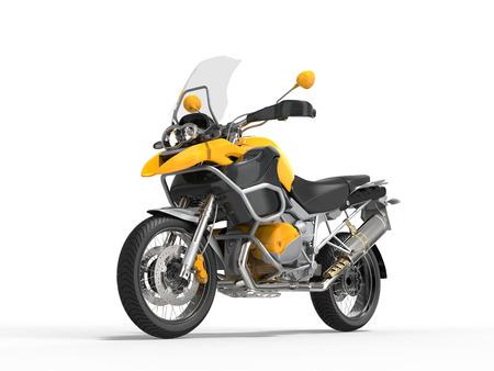 dirtbike: Yellow motorcycle - studio shot