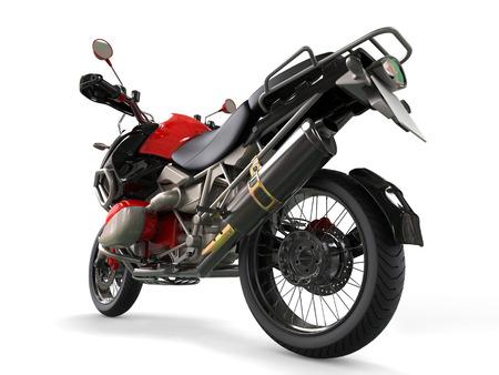 dirtbike: Powerful motorcycle - rear wheel closeup shot