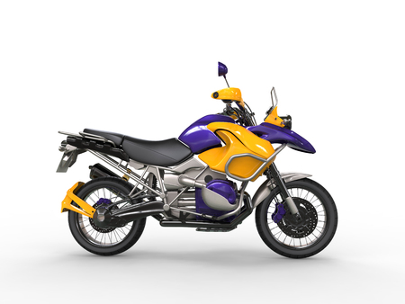 Awesome purple yellow superbike