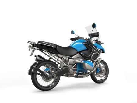 dirtbike: Metallic blue bike