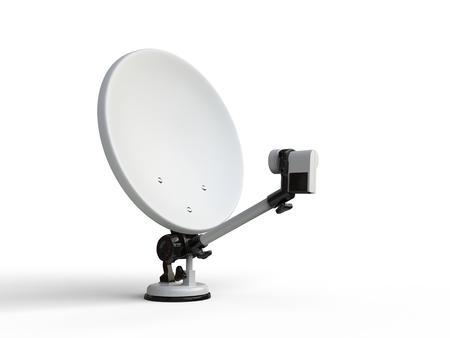 satelite: White TV satellite dish