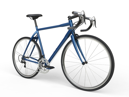 profesional: Blue sports race bicycles Stock Photo