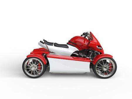 quad: Modern red electric quad bike