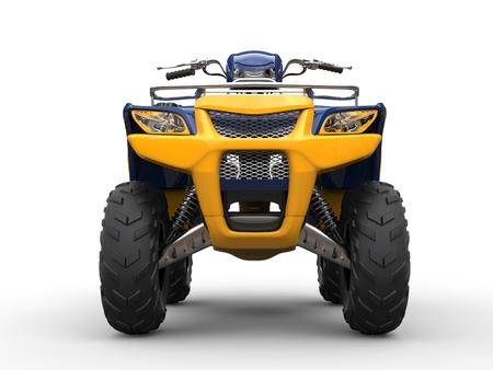 Awesome four - wheeler - front view closeup shot
