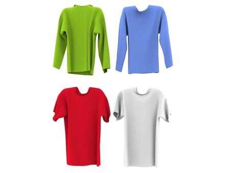 short sleeved: Long and short sleeved shirts