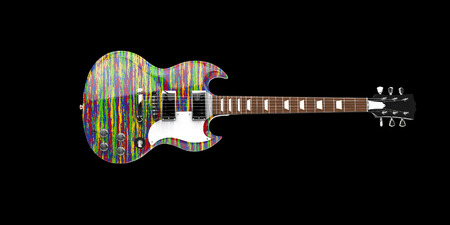 hardrock: Cool urban painted electric guitar